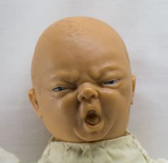 Vintage 18 Rubber Head & Limbs Crying, Yawning Baby Doll Scary ...
