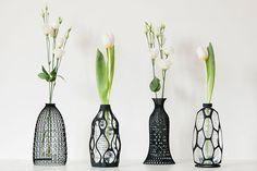 Vasos recicláveis feitos com impressora 3D