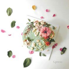 Korean Buttercream Flower, Buttercream Flower Cake, Cupcakes, Cupcake Cakes, Gorgeous Cakes, Pretty Cakes, Cake Design Inspiration, Fresh Flower Cake, Rustic Cake