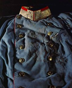 Uniform coat worn by Archduke Franz Ferdinand on the day of his assassination in Sarajevo, June 28, 1914. His morganatic wife, Duchess Sophie Hohenberg, died with him. The assassination by Gavrilo Princip, a young Serbian, brought about the First World War.