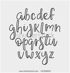 Super simple abc english line alphabet stock vector image 701388655 - . - Super simple abc english line alphabet stock vector image 701388655 – - Hand Lettering Alphabet, Doodle Lettering, Creative Lettering, Brush Lettering, Abc Alphabet, Modern Calligraphy Alphabet, Simple Lettering, Hand Lettering Styles, Lettering Ideas