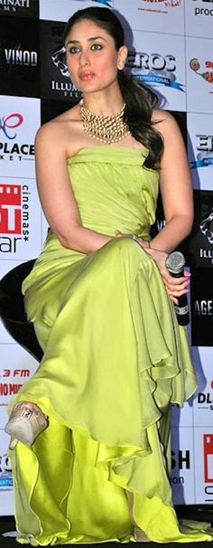 Kareena Kapoor #chartreusegown