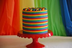 Meaningful Mama: Day #84 - Rainbow Birthday Cake