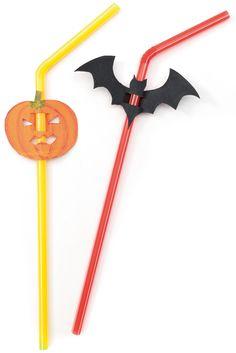 Perfekt für Ihre Halloween-Party! Egal ob Kürbisse, Fledermäuse oder Geister, mit diesen selbst gebastelten Strohhalmen kann kein Glas mehr verwechselt werden.