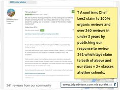 T A published #Chef #LeeZ reply claiming our #cooking #class = 2+ classes at other schools. over 340 100% organic #reviews Ta #Thailand #1 #school every year since 2011! Clipped from www.tripadvisor.com
