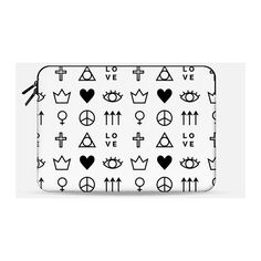 Macbook Sleeve - Symbols (1.430 CZK) ❤ liked on Polyvore featuring accessories and tech accessories