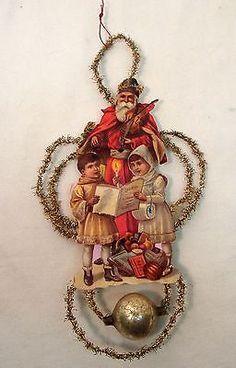 Santa scrap ornament