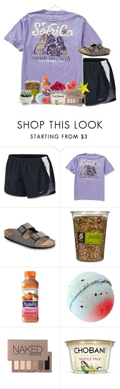"""""""Goodnight ig I have nothing better to do"""" by livnewell ❤ liked on Polyvore featuring NIKE, Birkenstock, Urban Decay and Sole Society"""