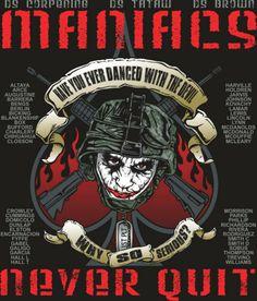 """Maniacs""-BRAVO 2/39 1st Plt-US Army BCT-Fort Jackson, SC-Platoon Shirt"