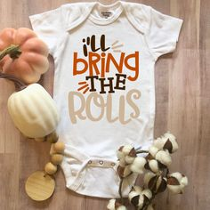 Toddler Boy Thanksgiving Outfit, Thanksgiving Baby, Boy Onesie, Baby Bodysuit, Onesies, November Baby, Cute Little Baby, Baby Time, Baby Shirts