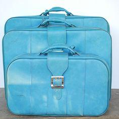 Vintage Blue Luggage..