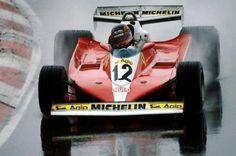 Gilles Villeneuve - Ferrari 312T3 - Ferrari Tipo 015 3.0 Flat-12 - Canadian Grand Prix - 1978