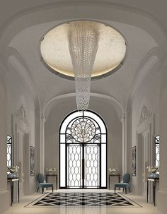 Entrance Lobby Interior design dubai