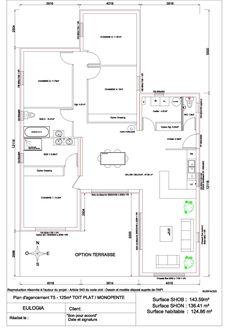 Best Maisons Plain Pied Images On Pinterest In Floor Plans - Plan maison 170 m2 plain pied