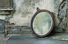 Antique your own mirror.  #Vintage