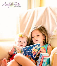 Sibling Photography Idea-Sharing a Book or boys reading to Mimi