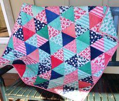 Handmade Baby Quilt Baby Girl Quilt Baby Blanket Handmade Baby Gift Baby Shower