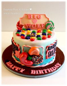 Candy crush cake - Cake by DaphneHo