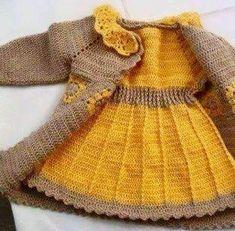 Crochet bebé amarillo conjunto