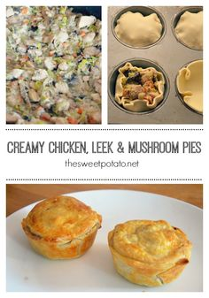 Creamy chicken leek and mushroom pies  sc 1 st  Pinterest & Chicken leek and mushroom plate pie | Recipe | Shaun rankin ...