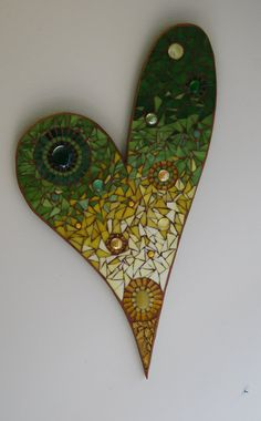 Stained Glass Mosaic Heart by GradaMosaics on Etsy, $115.00