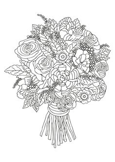 Coloring Pages of Flowers — Happies Detailed Coloring Pages, Flower Coloring Pages, Free Coloring Pages, Coloring Books, Wonderful Flowers, Flowers For You, Iris Flowers, Different Flowers, Types Of Flowers