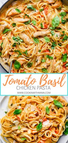 Chicken And Tomato Recipe, Recipes With Chicken Stock, Chicken Pasta Easy, Chicken Basil Recipes, Chicken Recipes With Tomatoes, Grilled Chicken Pasta, Fresh Tomato Recipes, Creamy Pasta Recipes, Basil Chicken