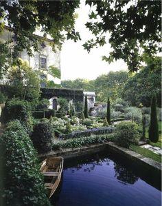 English gardens and wishing ponds,