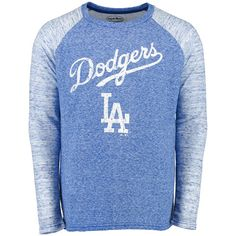 Los Angeles Dodgers Majestic Threads Double Face Thermal Slub Raglan Long Sleeve T-Shirt - Royal - $41.79