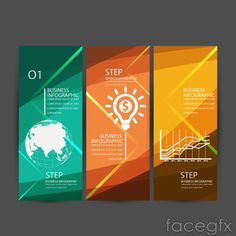 Fashion business information maps banner vector