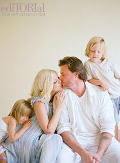 tori spelling and family by Elizabeth Messina