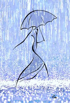 Running in Rain 2012 India Ink / Mixed Media Limited Edition Signed Ink-Jet Print in Premium Mat / Giclee on Cold Press Paper made with the newest superior . Line Drawing, Painting & Drawing, Pencil Drawings, Art Drawings, Art Abstrait, Rock Art, Line Art, Art Sketches, Painted Rocks