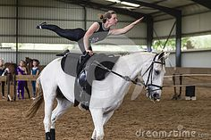 Horse vaulting KZN Natal champs held at indoor arena at Langleys Stables Summerveld. Competitors male and female young to mature teenagers and adults. Women's Equestrian, Indoor Arena, Vaulting, Stables, Champs, Teenagers, Gymnastics, Horses, Female