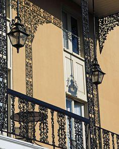 Iron Shadows by kberke  Balcony ironwork in the French Quarter