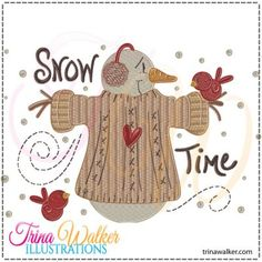 Snow Time 1 Machine Embroidery Design http://trinawalker.com/shop/index.php?main_page=product_info&cPath=78_79&products_id=144