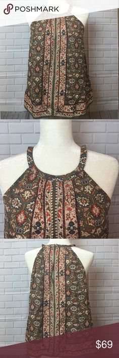 """Joie Braidie Silk Halter Blouse -Small -Stitch Fix Joie Braidie """"scarf"""" Silk Halter Blouse in Olive  Size Small.  This is NWT Joie Blouse from Stitch Fix.   Pit to pit 19"""". Length 25"""" Joie Tops Blouses"""