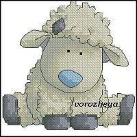 Little lamb cross stitch chart