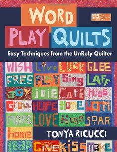 a book on piecing letters and words for quilts... I can do so much with this! (an early birthday present for myself)