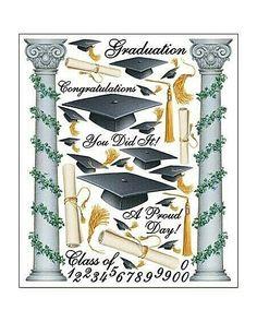 JOLEE/'S BOUTIQUE GRADUATION HIGH SCHOOL COLLEGE 8 PC STICKERS SCRAPBOOK CRAFT