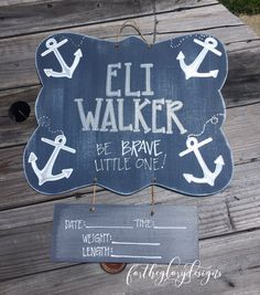 hospital door hanger // nautical theme // anchors - fortheglorydesigns on etsy