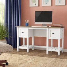 Home Office Furniture: Choosing The Right Computer Desk Small Office Desk, Home Office Desks, Home Office Furniture, Furniture Ideas, Corner Office, Office Table, Apartment Furniture, Apartment Ideas, Furniture Design