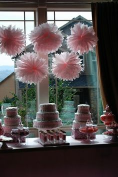 Pink Baby Shower Candy Table by Swanky Tables, via Flickr