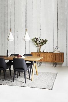 Pendants in grey for over dining