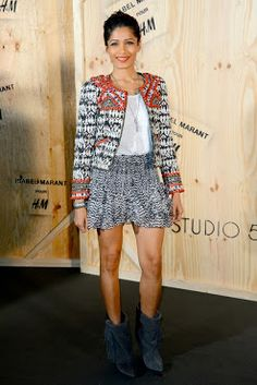 Freida Pinto in an Isabel Marant's outfit for H&M
