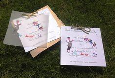 Partecipazioni con disegni dei bimbi di Impronte sulle Nuvole
