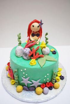 little mermaid cake. Tarta la sirenita. Ariel