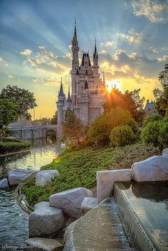 Sunset behind Cinderella Castle