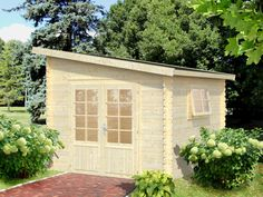 Prefab Wooden Shed Kit Palmako UsselB For Sale From  Bzbcabinsandoutdoors.net Solid Wood Cabin Kits