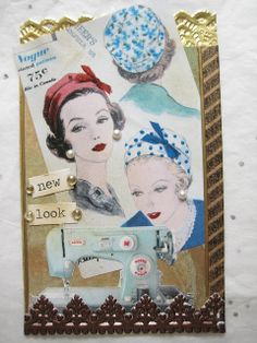 Vintage ATC with a Hat