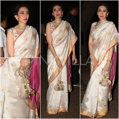 Deepika Padukone, Aishwarya Rai Bachchan and Karisma Kapoor: Ivory is the colour that is winning big in ethnic wear Pakistani Outfits, Indian Outfits, Orange Saree, Karisma Kapoor, Saree Look, Elegant Saree, Party Looks, Celebs, Celebrities